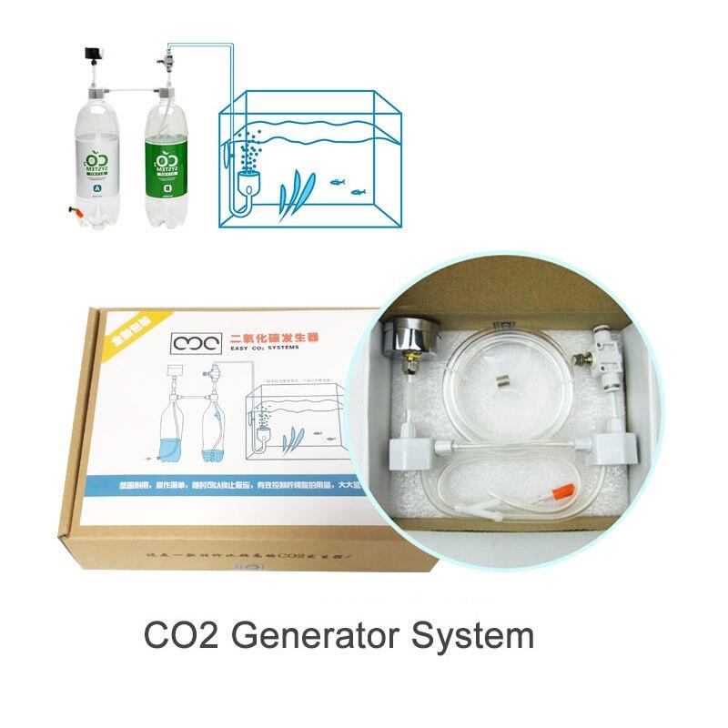 Aquarium Aquarium DIY CO2 Generator System Wasser Und Stroh Zylinder Druck Luftstrom Einstellung Co2 Ventil Diffusor