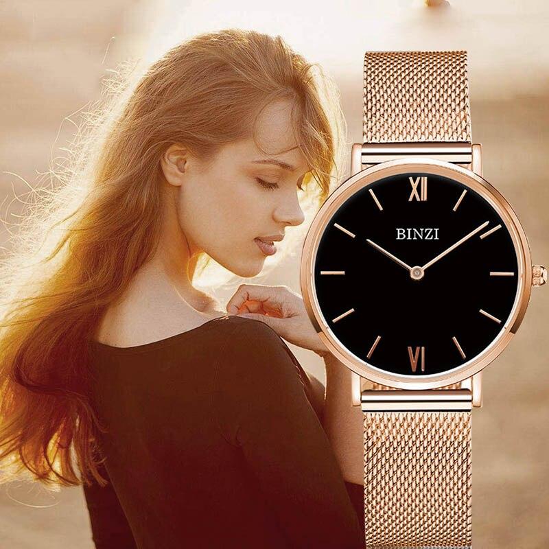 Reloj mujer pulsera Milanese de malla de acero inoxidable reloj de mujer reloj minimalista pulsera zegarek damski relojes xfcs