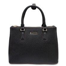 PASTE Famous Brand women leather handbags Elegant Genuine leather Saffiano handbag Fashion Three Layers shoulder messenger bags