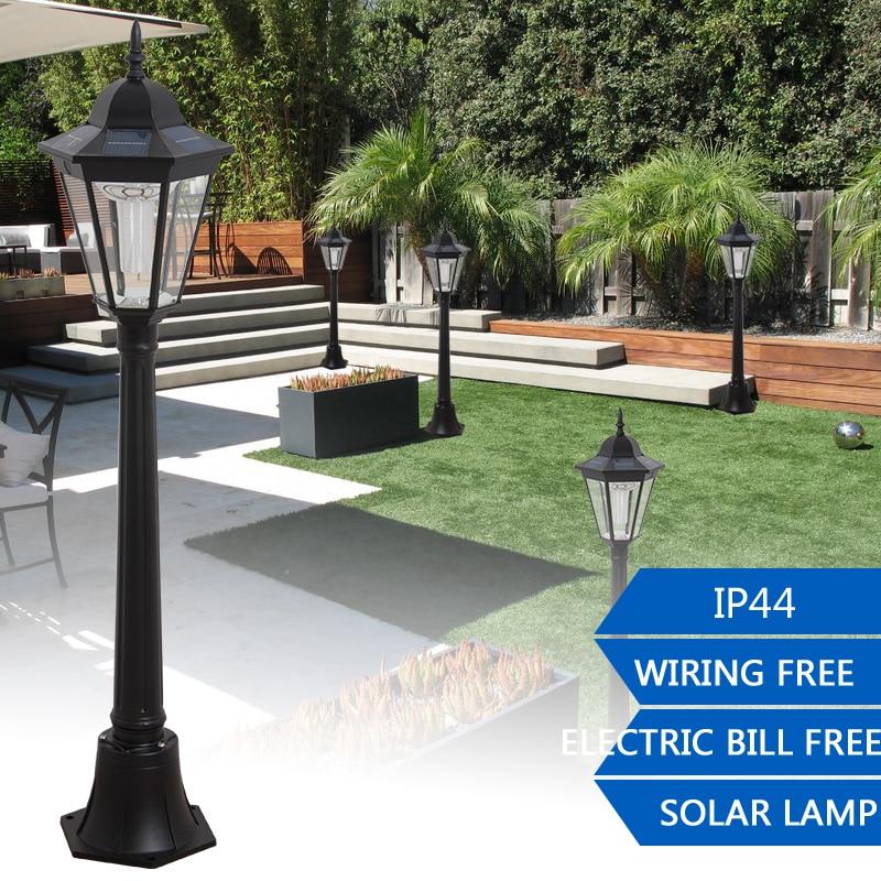 1.2M Outdoor LED Solar Garden Post Light Waterproof Pillar