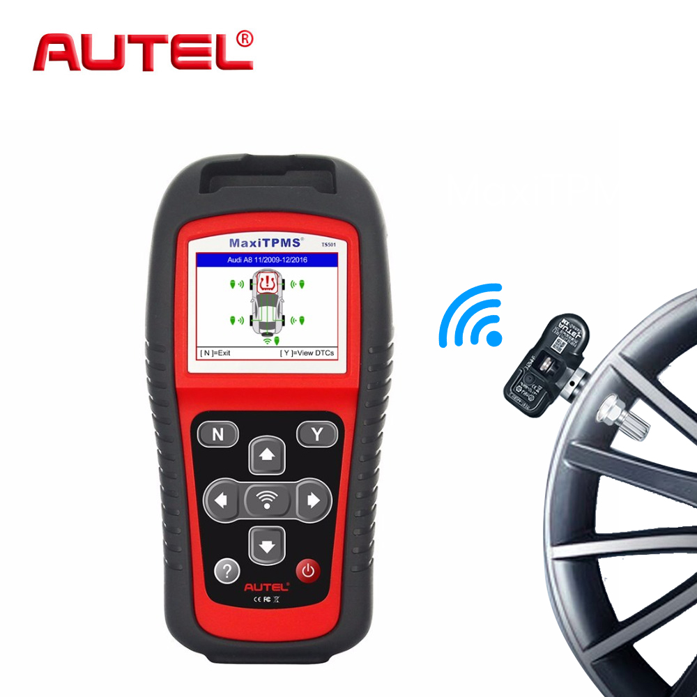 Image 2 - AUTEL Tire Pressure gauge sensors tool MaxiTPMS TS501 TPMS Diagnostic Tool Service  Auto Scan Tool OBD2 Car Scanner Relearn-in Pressure & Vacuum Testers from Automobiles & Motorcycles on