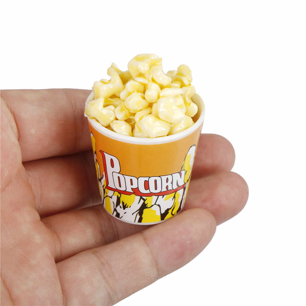 Wholesale 1/6 Dollhouse Miniature A Bucket of Popcorn Toy for   /  Simulation Food Toy DIY Home Decor