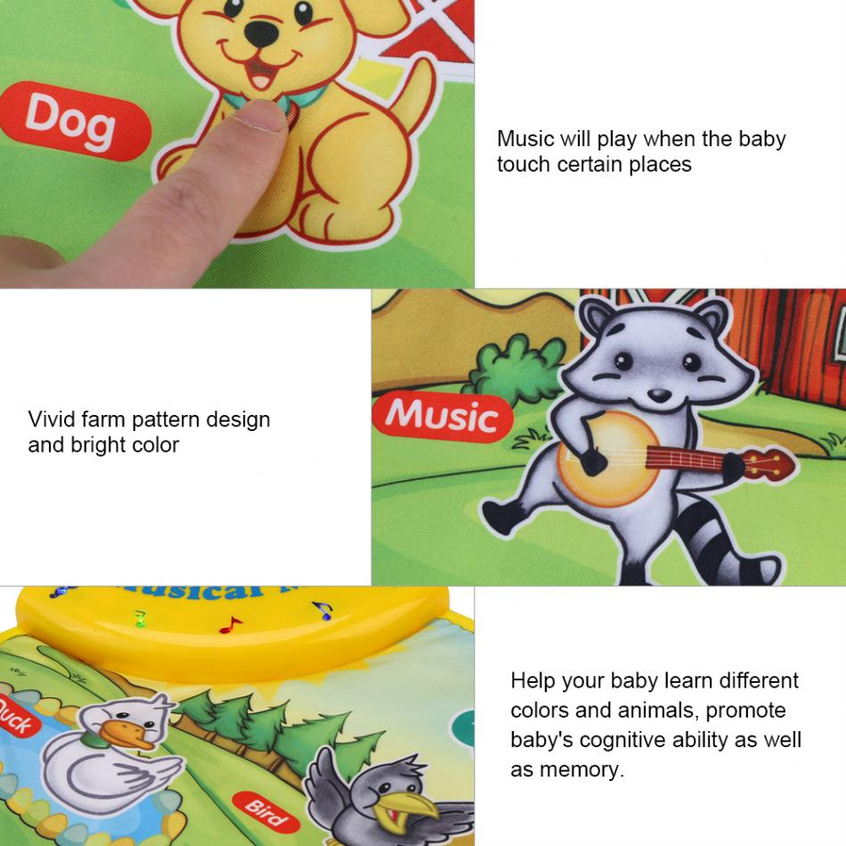 HTB1vJyybXooBKNjSZPhq6A2CXXaZ 60 * 39CM Baby Music Play Carpet Mat Children Kid Crawling Piano Carpet Educational Musical Toy Kids Touch Paly Game Mats Gift