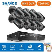 SANNCE 8CH 1080N 720 P HD CCTV системы видео регистраторы 8 шт. 720 CCTV Водонепроницаемая Камера Безопасности ночное видение наблюдения наборы