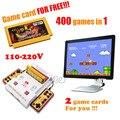 Venta caliente Nostálgica original consola de videojuegos reproductor con 400 juegos gratis tarjeta de juego original TV jugador del juego