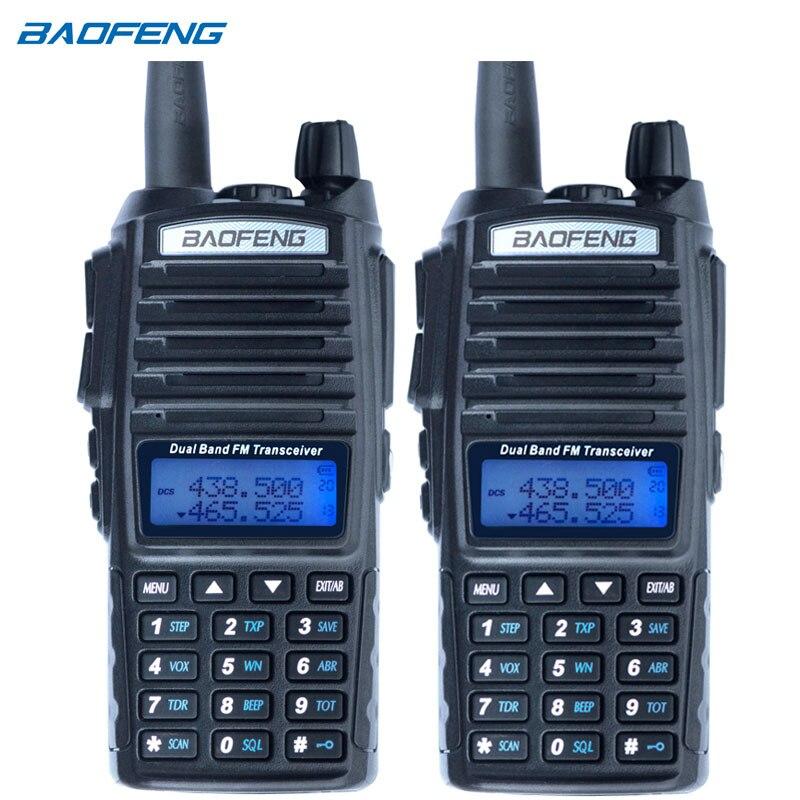 2 шт. Baofeng UV-82 двухканальные рации cb радио UV82 портативный двухстороннее радио FM трансивер long range dual band baofeng UV82