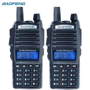 Image 1 - 2Pcs Baofeng UV 82 ווקי טוקי CB רדיו UV 82 נייד שתי בדרך רדיו FM VOX משדר להקה כפולה ארוך טווח UV82 מכשירי רדיו חזיר