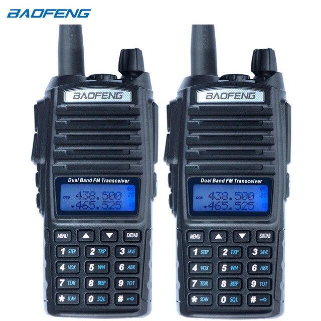 2Pcs Baofeng UV 82 ווקי טוקי CB רדיו UV 82 נייד שתי בדרך רדיו FM VOX משדר להקה כפולה ארוך טווח UV82 מכשירי רדיו חזיר