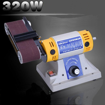 220V 320W desktop multi-function electric Belt Sander table grinder sander polishing Grinding machine