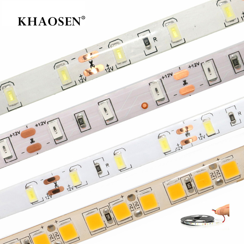 LED Strip Flexible Light 2835 5630 5050 60LEDs/m 5054 120LEDs/m No-waterproof/IP65 Waterproof White/warm White 1m 2m 3m 4m 5m