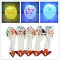 """5 Pcs Dos Desenhos Animados Balão LEVOU 12 """"Multicolor Látex Balões de Flash Luzes de Natal Decoração da Fonte Do Partido de Aniversário Para Crianças Miúdo"""