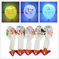"5Pcs Cartoon LED Balloon 12"" Latex Multicolor Flash Lights Balloons Christmas Decoration Birthday Party Supply For Kid Children"