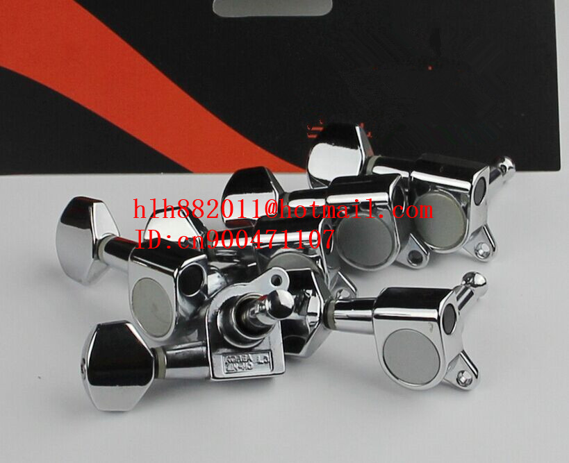 free shipping new left hand electric guitar chrome  tuning peg guitar button for one side of the guitar J-02  AR-11 купить