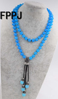 blue jades stone round 10mm necklace and shell pendant wholesale beads discount gift hot 34inch