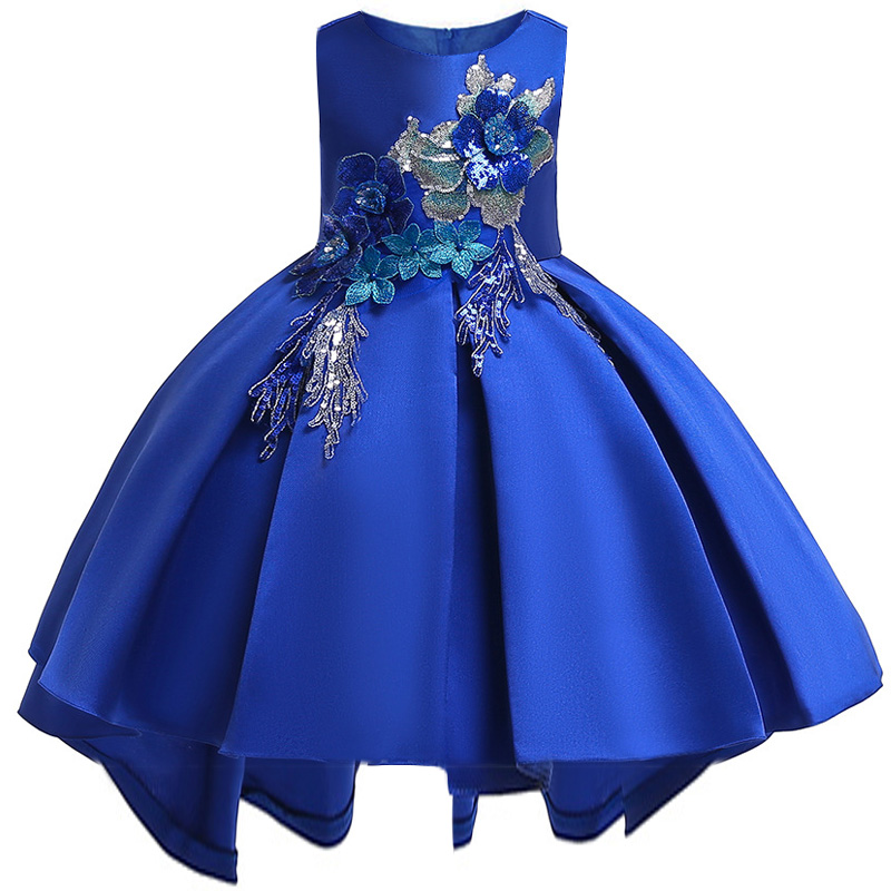 Bridesmaid of honor embroidered sequins Princess Christmas wore a pearl tail   dress     Girl's   New School Party   Dress     Girl's   Wedding