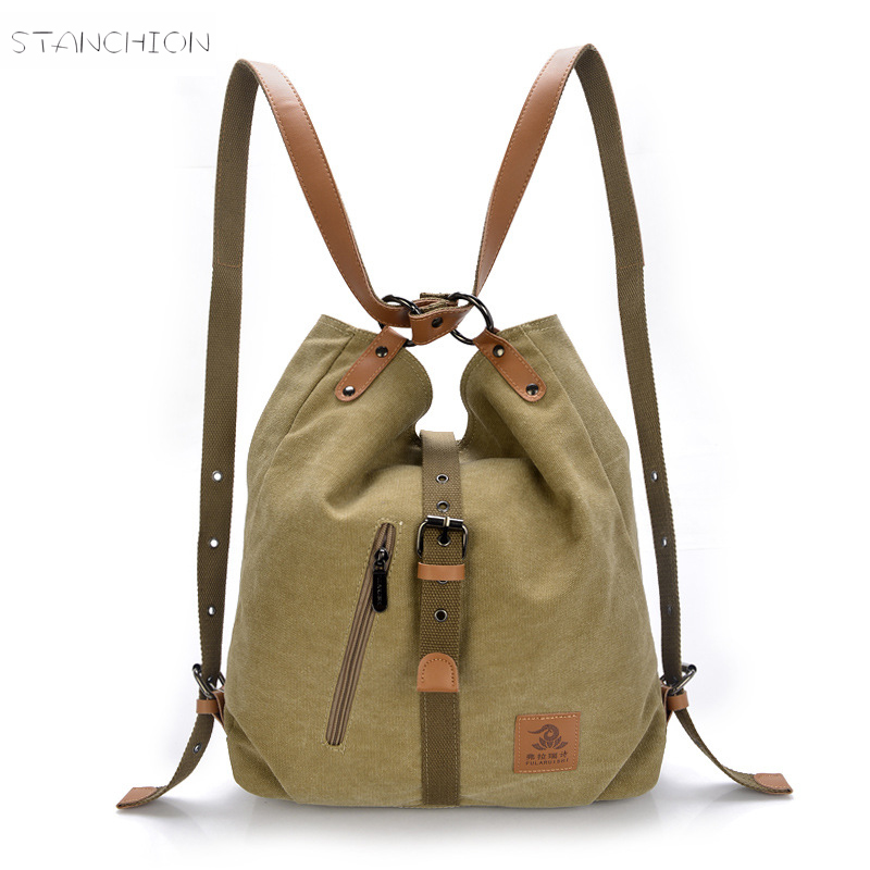 Women Backpack Mochila Feminina Teenagers Girls Sac Shoulder Messenger Canvas Vintage Shoulder Bag Escolar Rucksack
