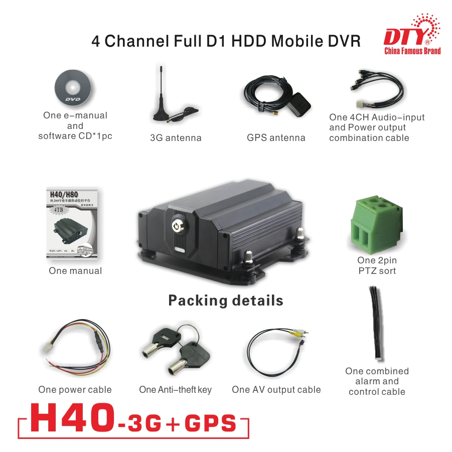 US $239 93 |GPS 3g 4ch MDVR/ vehicle mobile dvr with free CMS software with  CE certificate,H40 3G (3g&gps)-in Surveillance Video Recorder from