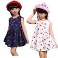 Bebé Niña Vestidos De Verano A Juego Niños Vestido de Tallas grandes Chicas Cereza Imprimir Algodón Familia niño Ropa Vestidos