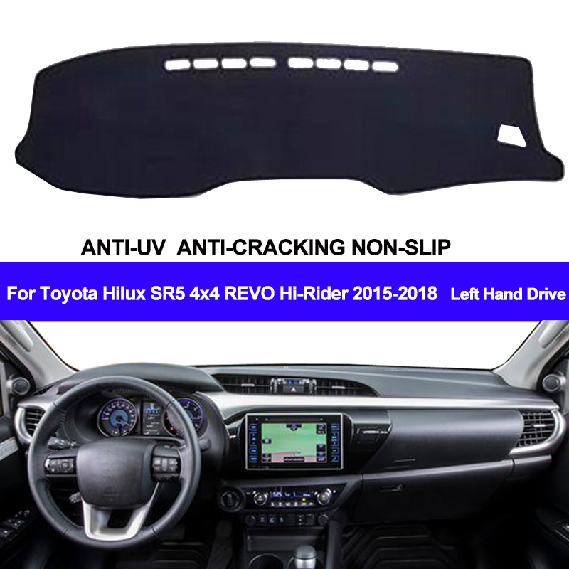 Car Dashboard Cover For Toyota Hilux SR5 4x4 REVO Hi-Rider 2015 2016 2017 2018 Pad Carpet Dashmat Sun Shade Pad Auto Car Styling