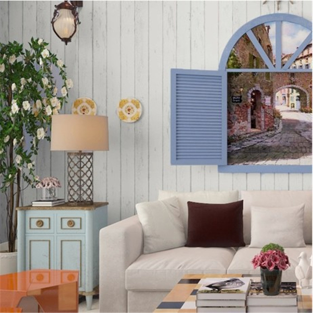 beibehang home decor mural Wood Panel non woven 3D wallpaper Roll ...