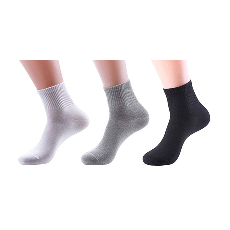 Breathable anti-bacterial men socks high quality pure colour male sock pure cotton business socks (3 pairs/lot)
