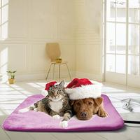 2pcs 240V Electric Coral Velvet Pet Cushion Safety Pet Cat Dog Heating Pad Winter Warmer Seat