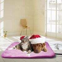 2pcs 240V Electric Coral Velvet Pet Cushion Safety Pet Cat Dog Heating Pad Winter Warmer Seat