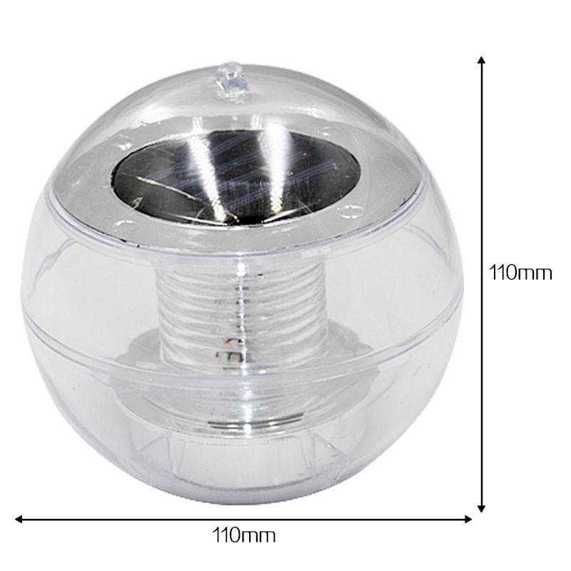 Solar Powder Floating Light Waterproof Garden Pool Lighting Automatic Color Change Lamp For Pond Fountain Decor -- JDH99