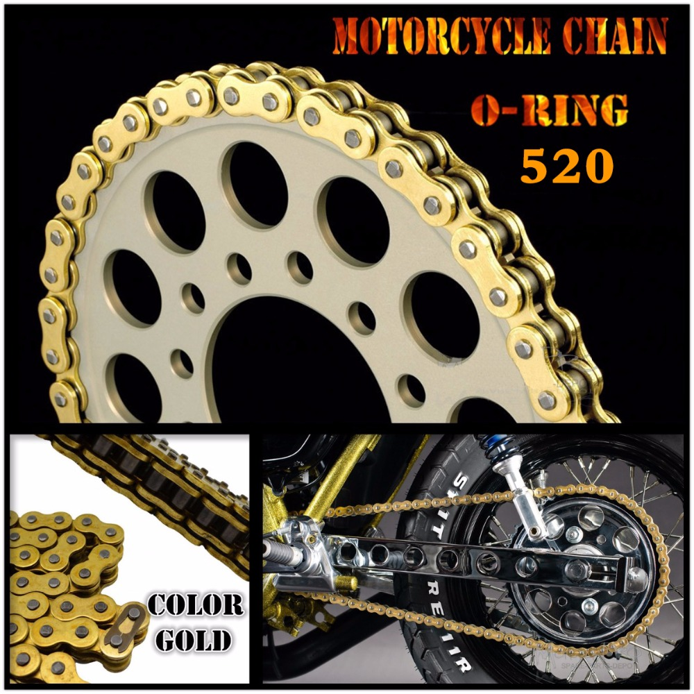Motorcycle Drive Chain O-Ring 520 L120 For BMW G 450 X (K-16) 08-10 F650 (ST/FUNDURO) 94-00 F 650 (34 CV) 95-00 F 650 GS 00-07 цены
