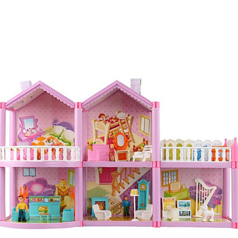New Arrival Pink Doll House Doll Accessories Early Education Toys Model Set For Girl Birthday Wedding Decoration Christmas Gifts new arrival without original box house kitchen cart barbecue kitchen cart simulation role playing best early education toys