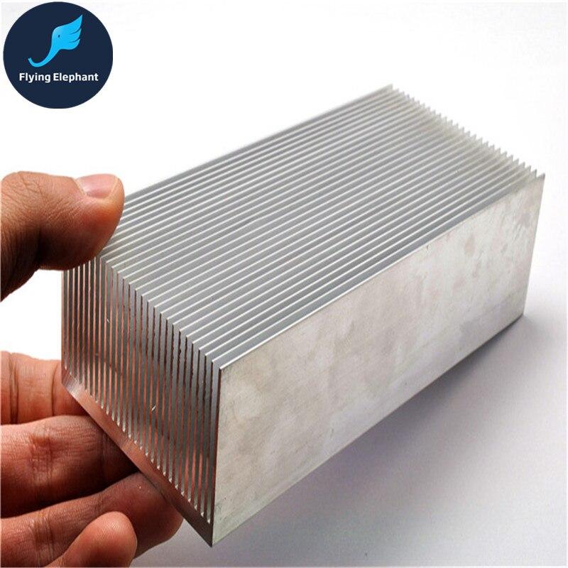 Electrónica del radiador de aluminio denso dientes disipador de calor extruido disipador de calor de enfriamiento de agua de la computadora del sistema de 100/130/150/200 /300x69x36mm