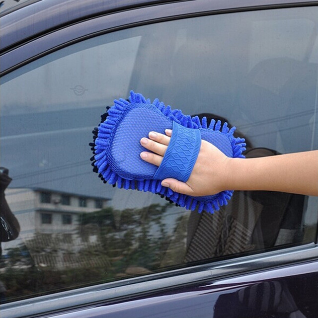 Car Cleaning Polishing Brush Microfiber Sponge