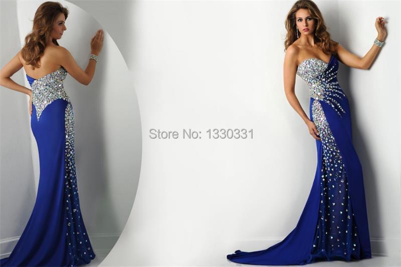 Aliexpress.com : Buy Custom Made sapphire prom dresses Elegant ...