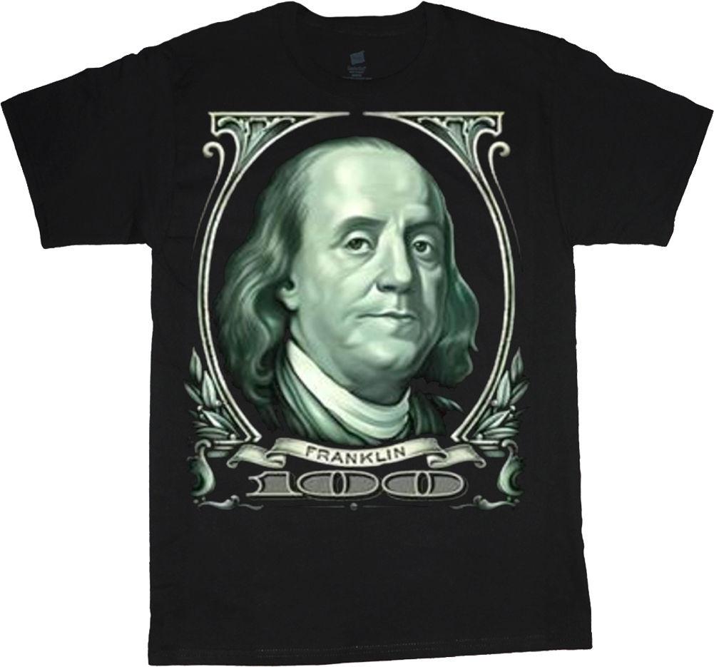 1ee875a16 big and tall t-shirt Benjamin Franklin 100 dollar bill tee shirts for men