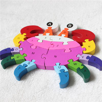 2017 New Kids Puzzles Wooden Toys Kids Puzzles Wood Puzzles Toys 26 English Letter Digital Colorful Children Toys