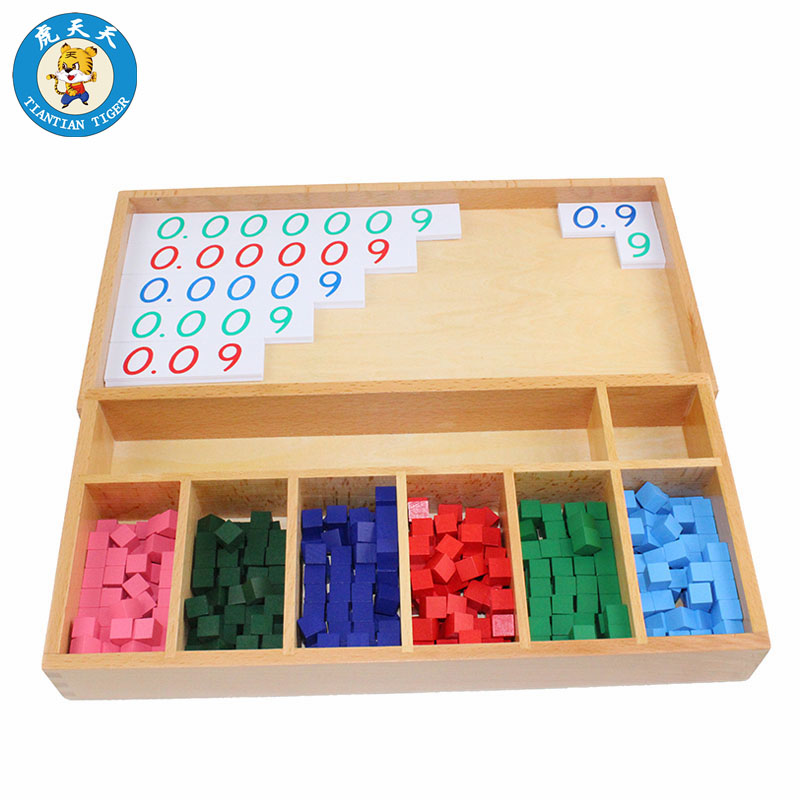 Smart Montessori Mathematics Learning Education Teaching Material For Children Decimal Fraction Exercise Home