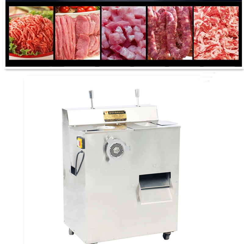 цены 220V 200kg/H Commercial Multifunctional Electric Meat Vegetable Grinder Stainless Steel Sausage Maker Shredder Machine