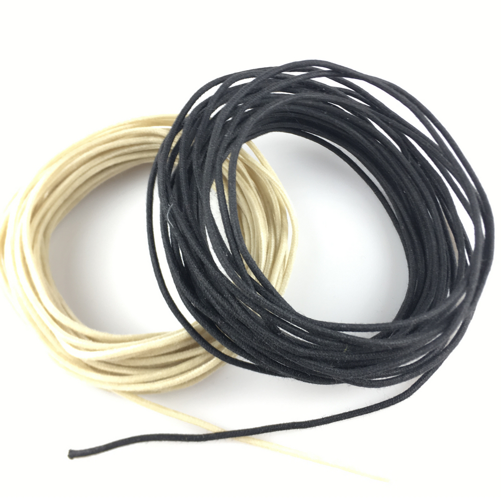 Vintage Style tinned Cloth Push Back Guitar Wire $1 per meter BLACK ...