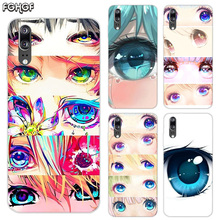Charming Beautiful Eyes Soft Silicone Phone Back Case For Huawei P20 P30 P8 P9 P10 lite Pro Plus P Smart + TPU Cover