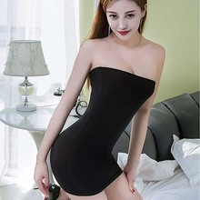 Elastic  Women Sexy Seamless Strapless Skirt Off The Shoulder Slim Skirts Stretch Tight Party Club Body con Tube Mini Skirts