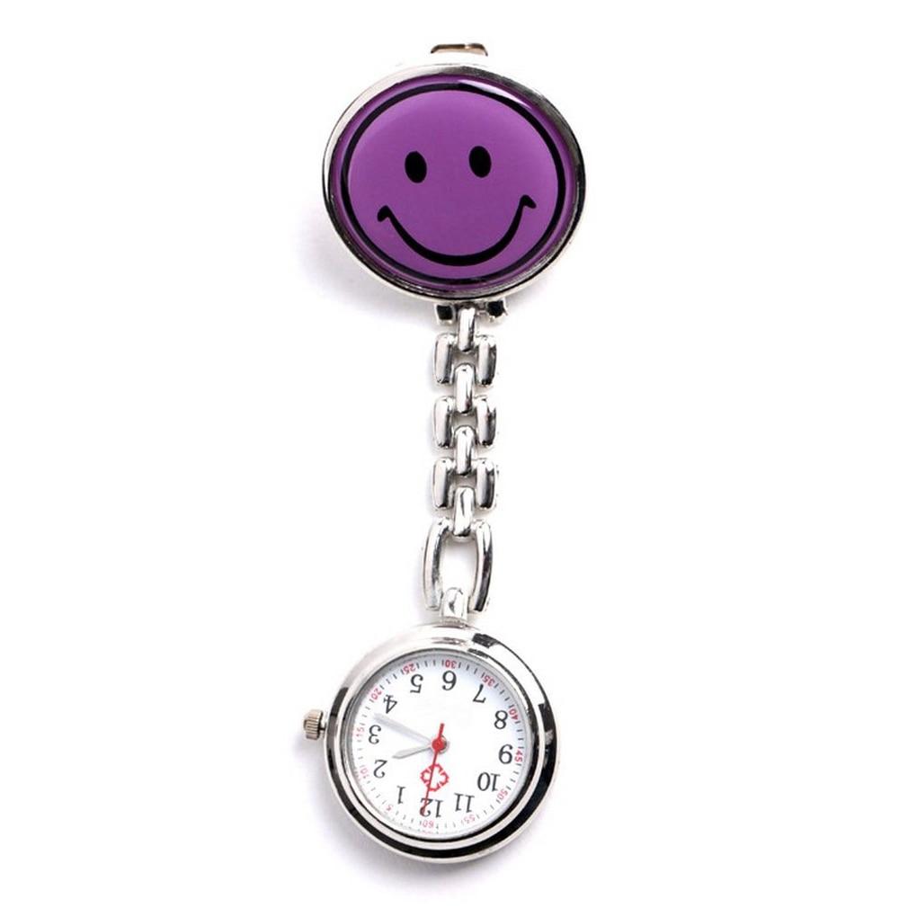 Medical Nurse Pocket Watch,quartz Movement,brooch Pendant Pocket Watch Purple
