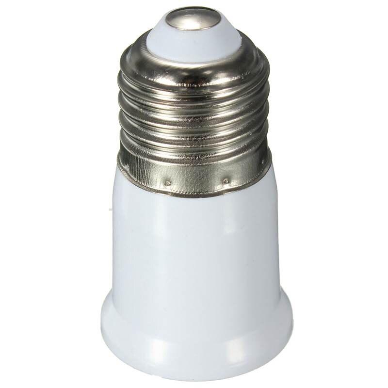 White Extend Adapter Lamp Base E27 To E27 Light Bulb Lamp Holder Screw Socket Adapter Converter 110-250V