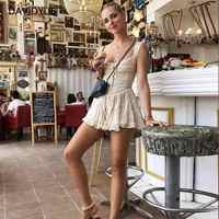 Summer cotton ruffles mini dress wome Sexy sleeveless beach dres Casual ladies dresses korean black vintage dress vestidos 2019