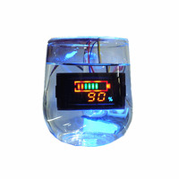 DC6-120V Waterproof electricity / voltage / temperature three-in-one table Vehicle multi-function meter for Acid battery Smart Remote Control