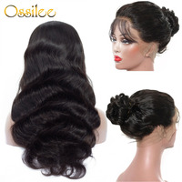 Ossilee Body wave 360 Lace Frontal Wigs Preplucked Peruvian Human Hair Lace Front Wigs Natural Hairline with Baby Hairs Remy