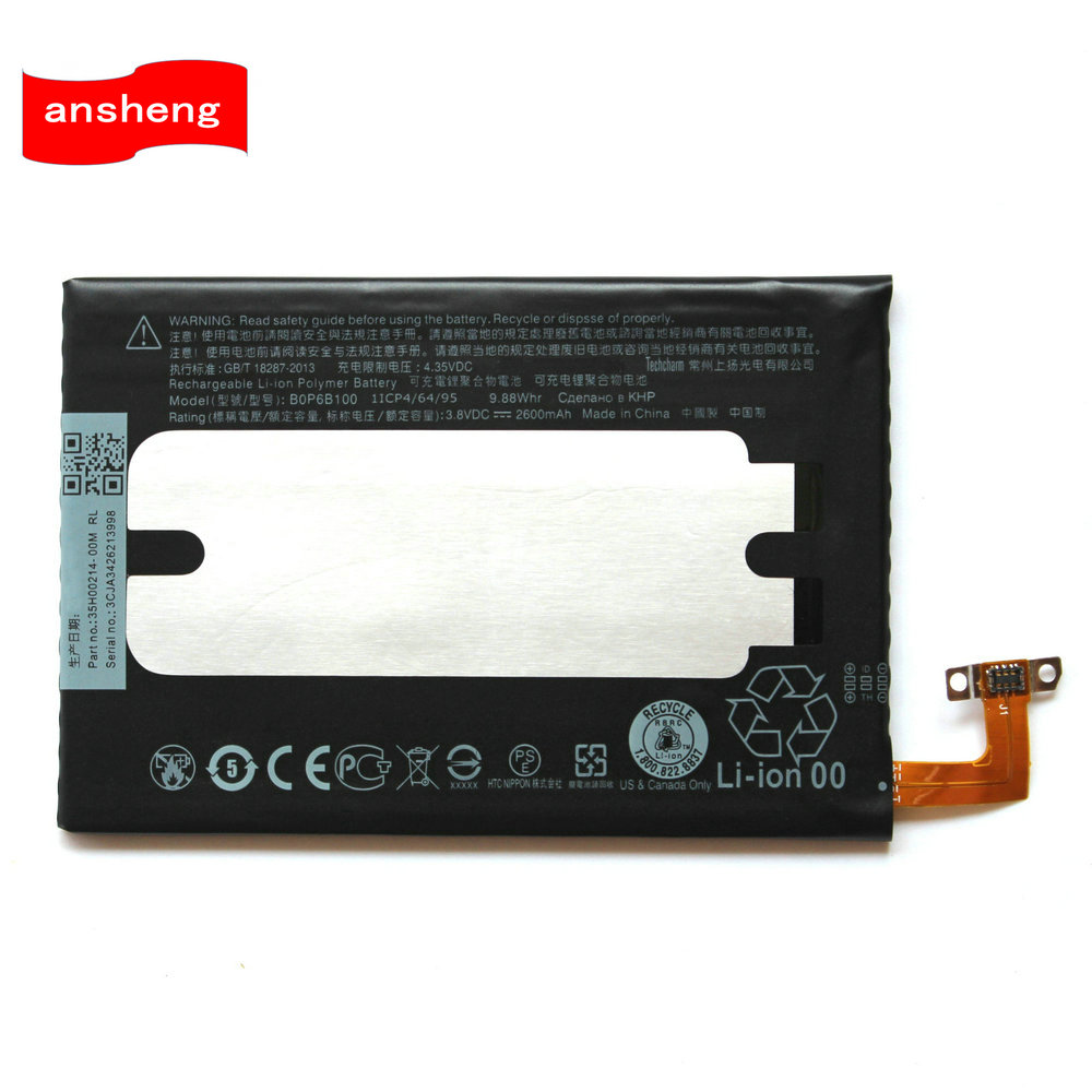 High Quality 2600mAh BOP6B100 B0P6B100 Battery For HTC One