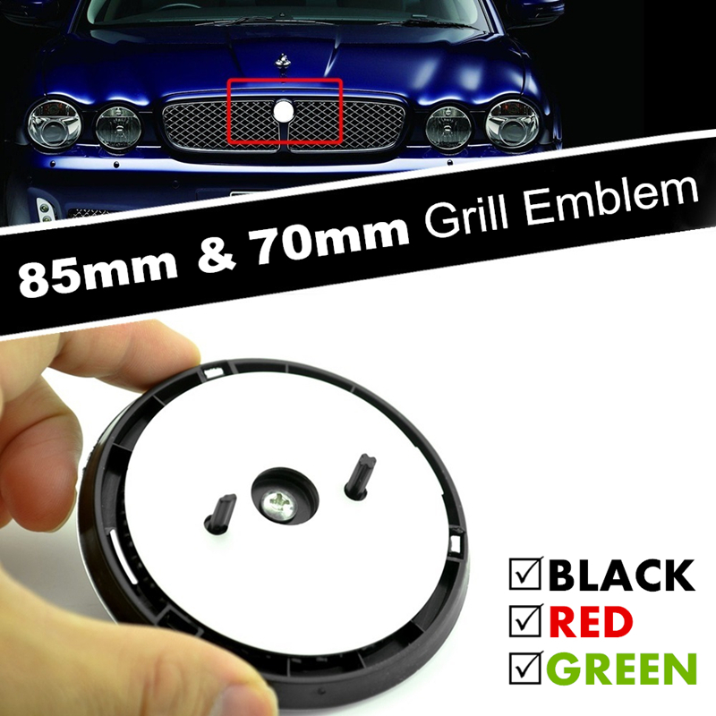 85mm 70mm Car Front Grille Emblem ABS Badge 3D Panther Leopard Growler Leaping Cat Ornament for XF XJ XJL Accessories-in Car Stickers from Automobiles & Motorcycles