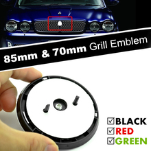 85mm 70mm Car Front Grille Emblem ABS Badge 3D Panther Leopard Growler Leaping Cat Ornament for XF XJ XJL Accessories