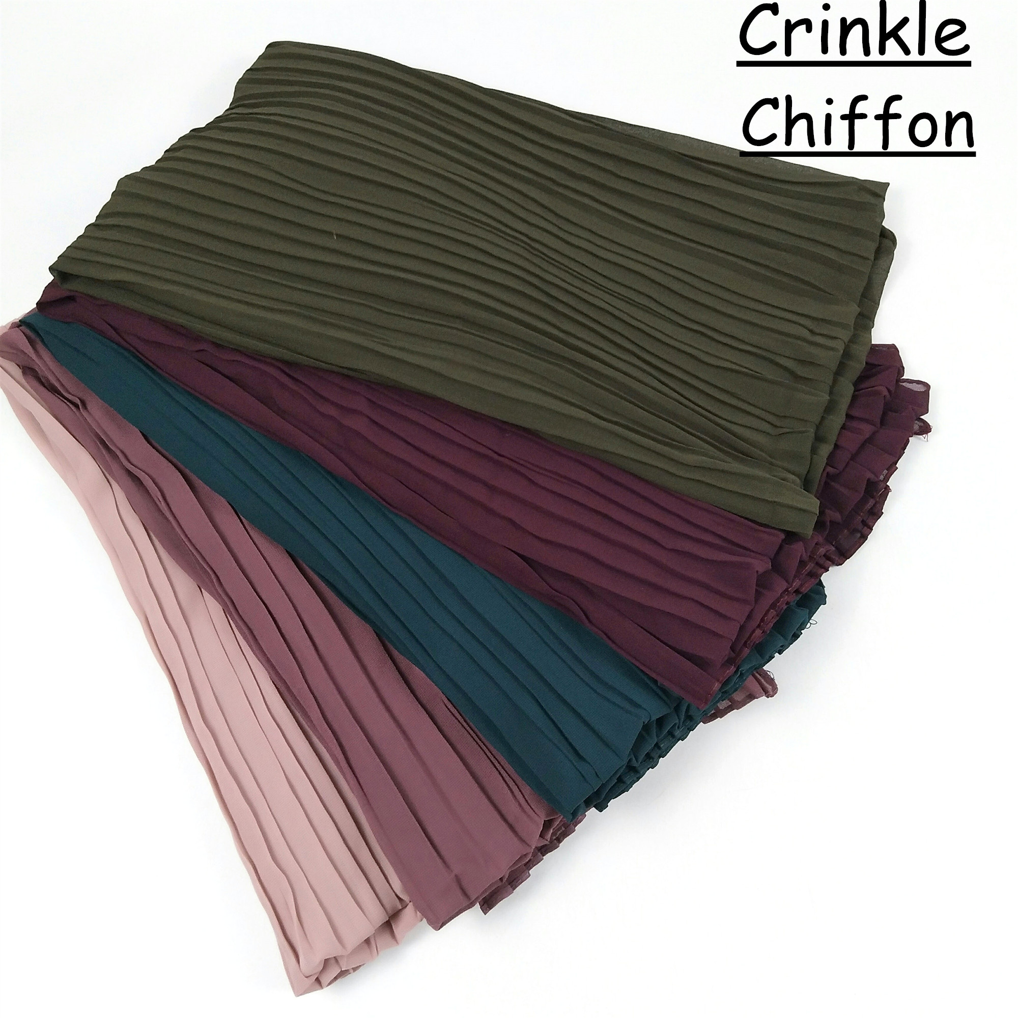 S94 5pcs High quality crinkle chiffon hijab   scarf     wrap   shawls chiffon hijab long   wrap   headband women   scarf  /  scarves