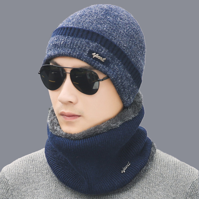 HOT Winter Hat Scarf Skullies Beanies For Men Knitted Hat Women Mask Thick  Balaclava Earflap Wool 25dd812c7529